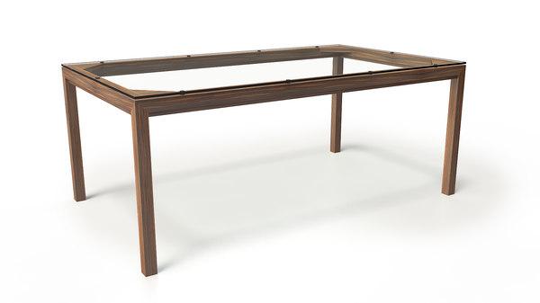 3D rectangular table model