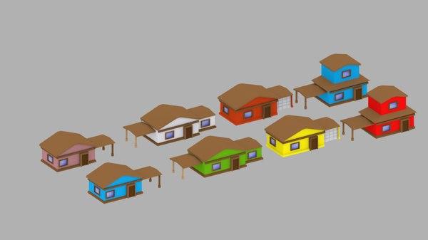 3D polys building model