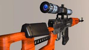 3D dragunov sniper