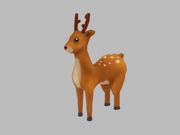 deer cartoon 3D model