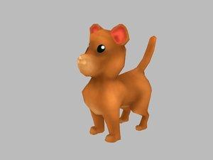 3D baby lion model