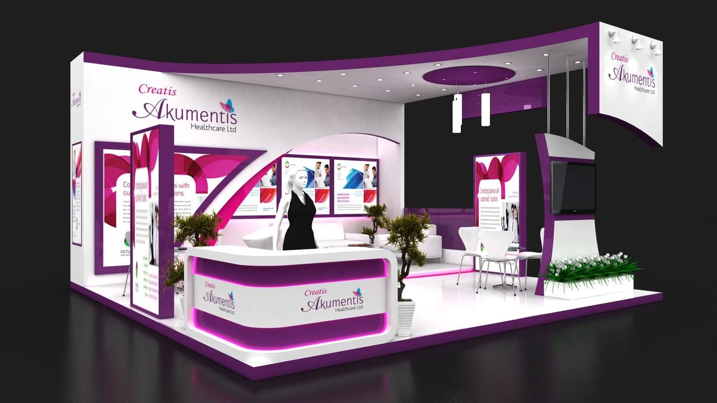 Exhibition Stall Photo : Exhibition stall 3d model turbosquid 1357107