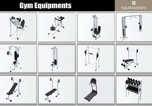 equipaments 3D model