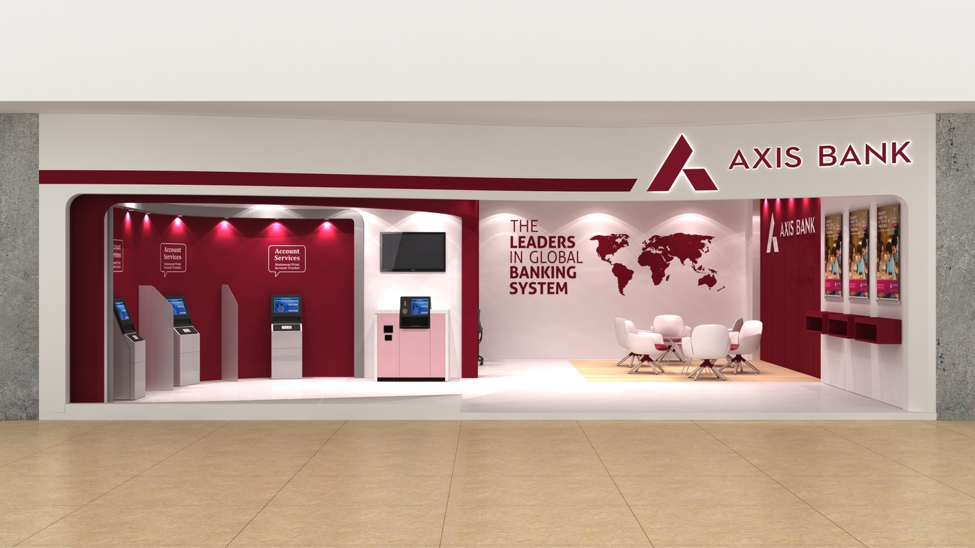 axis bank lobby 3D model