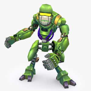 rigged robot type model