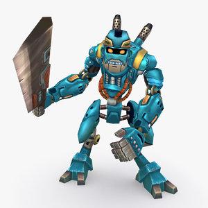 3D rigged robot type b model