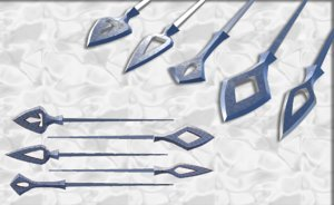 3D set japanese arrows
