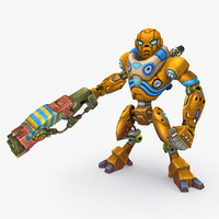 3D rigged robot type c