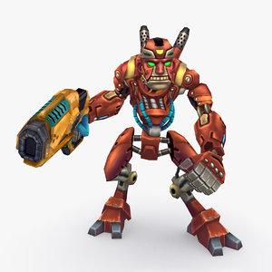 3D rigged robot type d