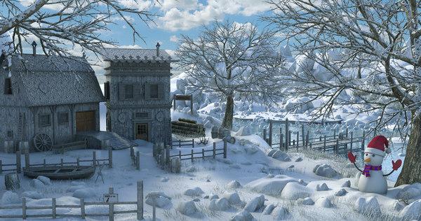 winter 3D model