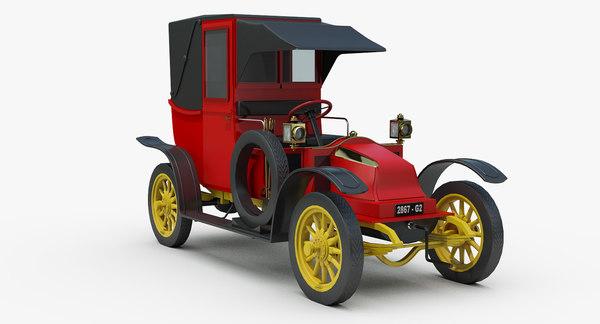 vintage renault taxi la 3D model