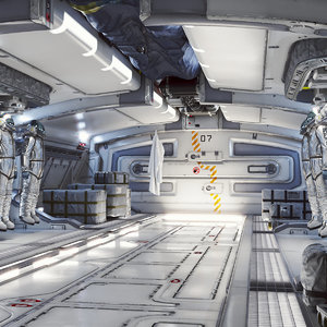 3D model scene doors