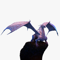 3D model dragon winged