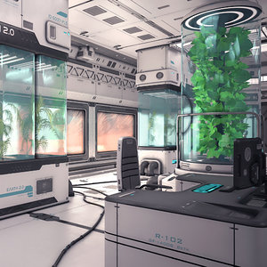 sci fi laboratory 03 3D model