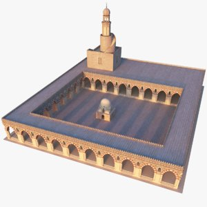 mosque modeled 3D
