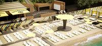 scene beach club 3D model