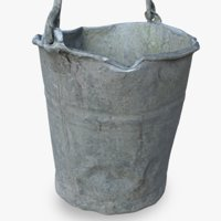 3D old metal bucket