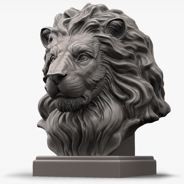3d animal lion head