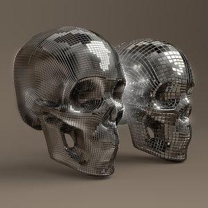 disco skull 3D model