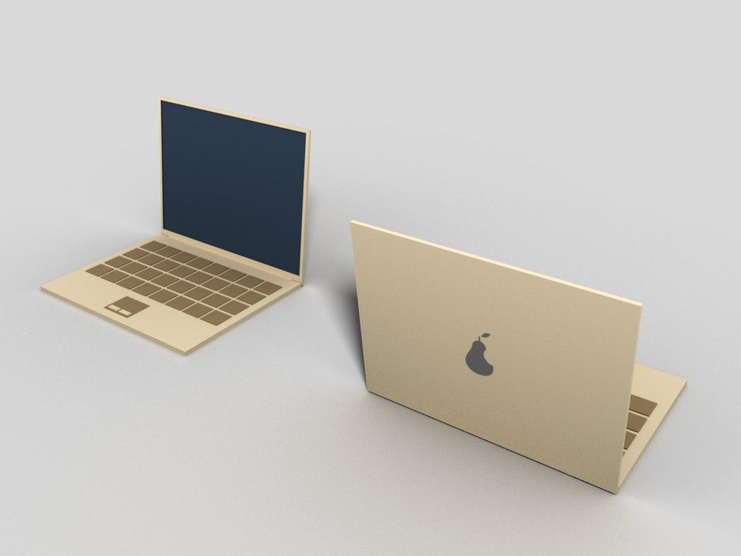 cartoon laptop ar model