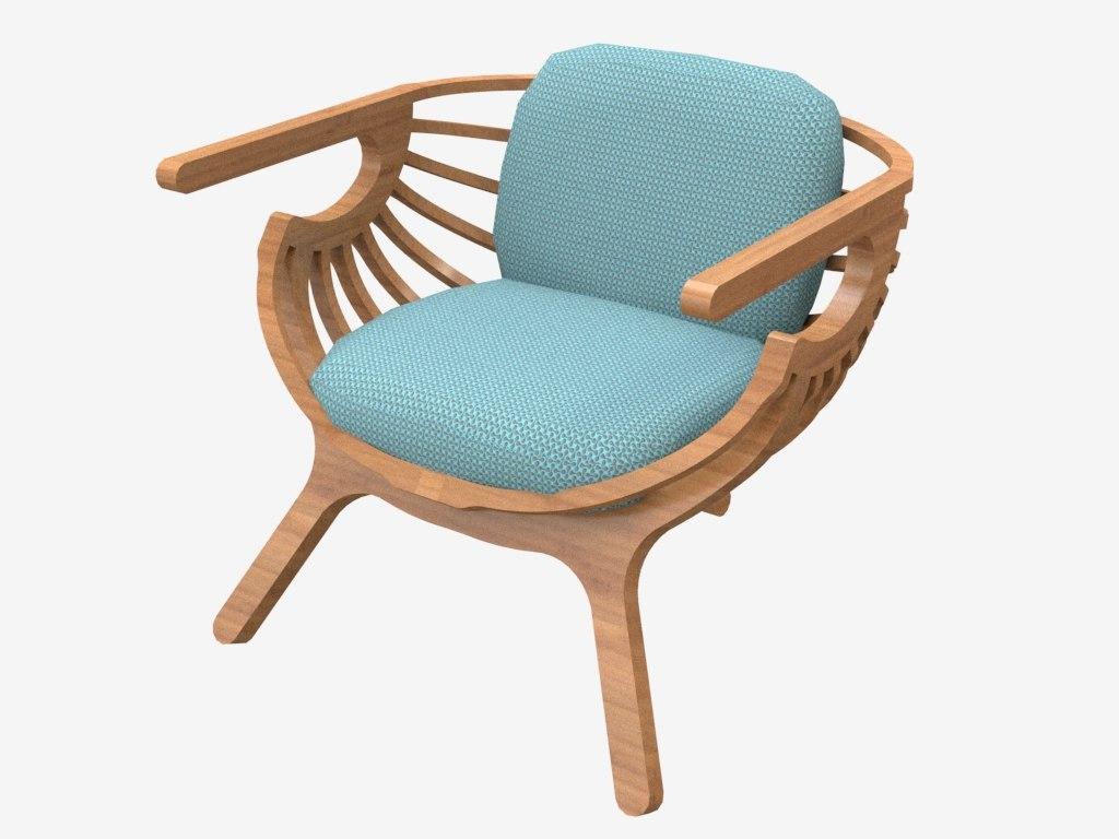 3D model chair furnishings furniture