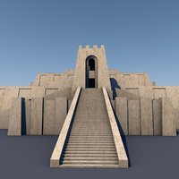 3D ziggurat ancient mesopotamia