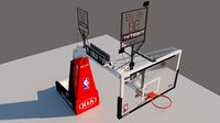 3D basketball basket ball