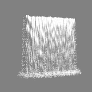 medium sized waterfall 3D model