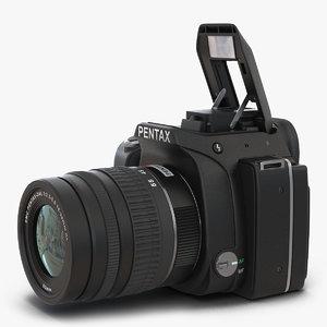 pentax k-s1 black 3d model