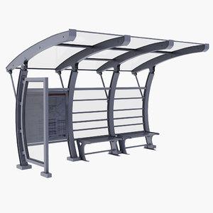 modern bus stop model