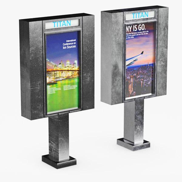 advertising 3D model