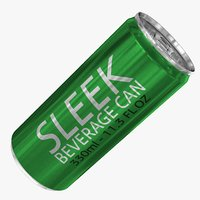 3D sleek 330ml 11 3oz model