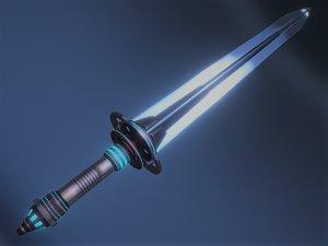 3D model scifi sword
