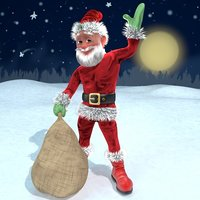 santa cartoon 3D