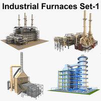 industrial furnace 3D model