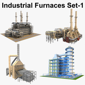 industrial furnace 3D model