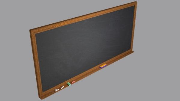 black board 3D model