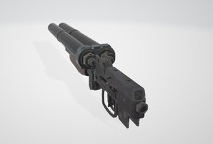mounted weapon 3D model