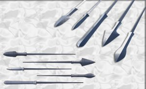 set japanese arrows heads 3D