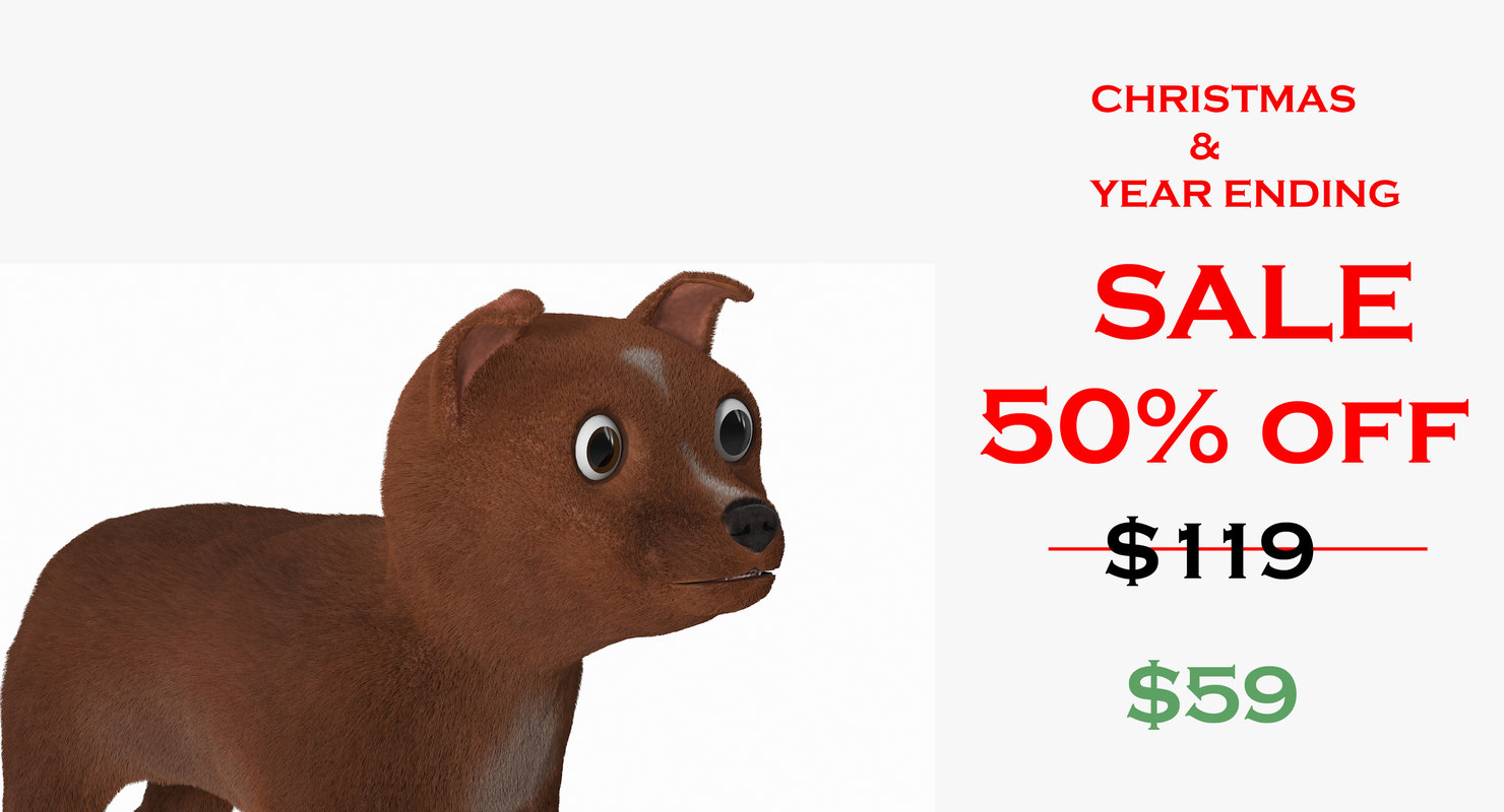 3D dog fur model