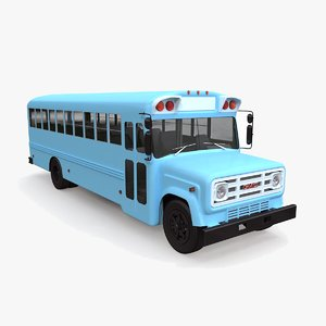 3d model gmc b-series bus