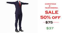 3d model Male Suit