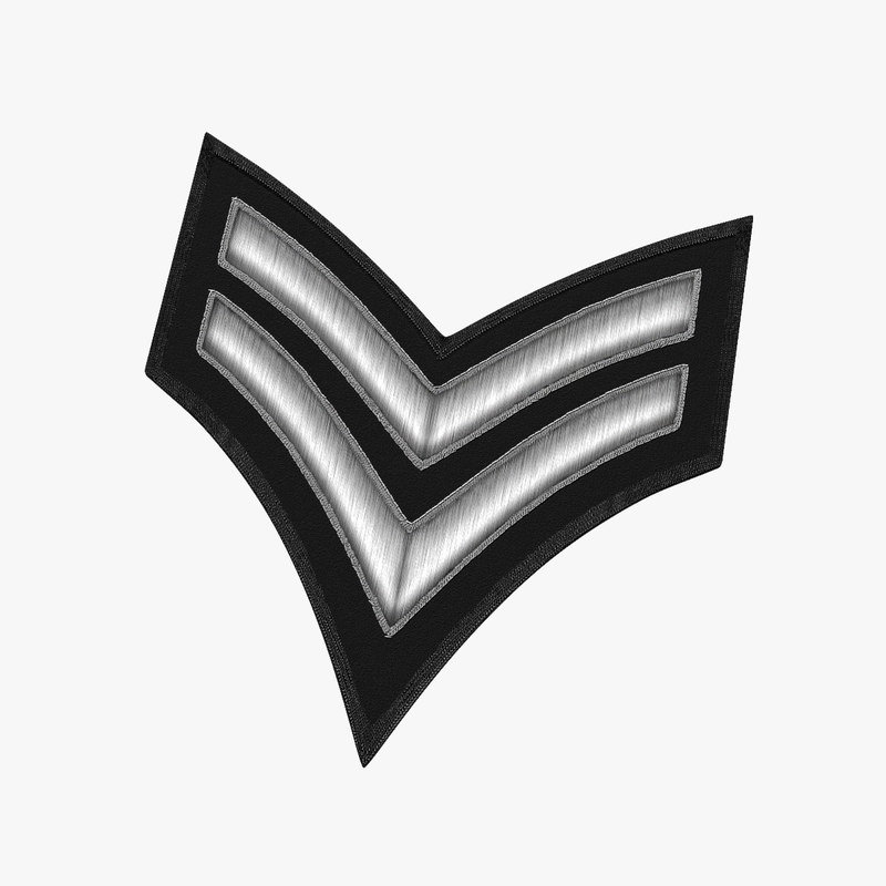 3D model embroidered military patch