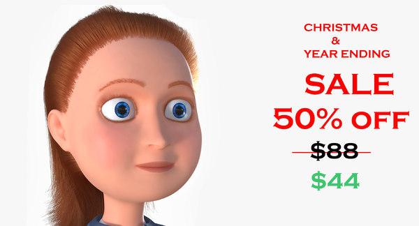 3D model girl cartoon
