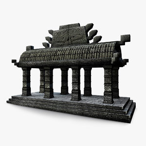 aztec small temple 3D model
