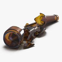3d model of broken beer bottle 3
