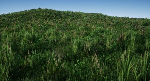 grass groundcover pack 01 model