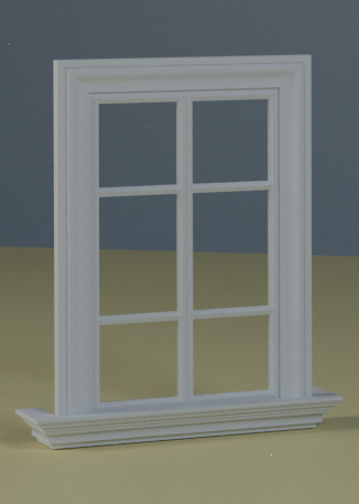 3d interior exterior window model