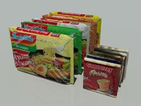 instant noodles indonesia 3D model