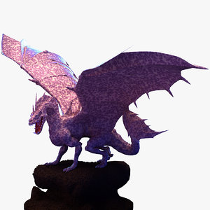 dragon winged 3D model
